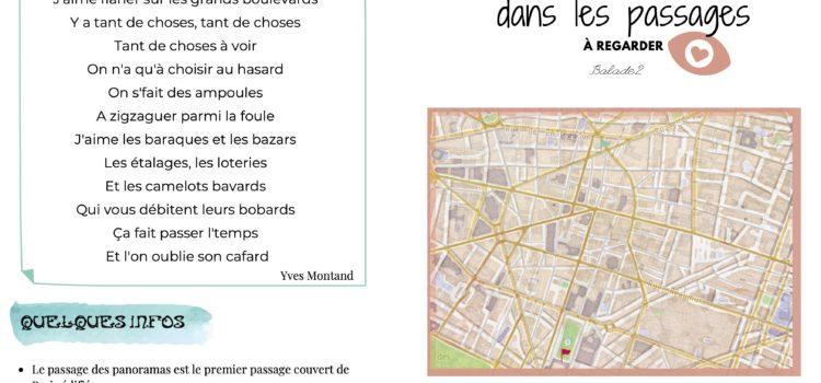 Balade au fil des passages  parisiens